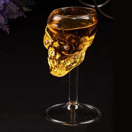 HBLWX Grandes Copas de cráneo Copa de Whisky Copa de Vino ...