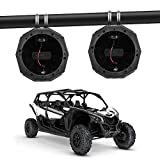 Kemimoto 6.5' Speaker Cage Swivel Pods, UTV ATV Speaker Enclosure with 1.75 to 2' Mounting Clamps Compatible with Polaris RZR 900 1000 xp Can Am Maverick X3 Sport Turbo Commander