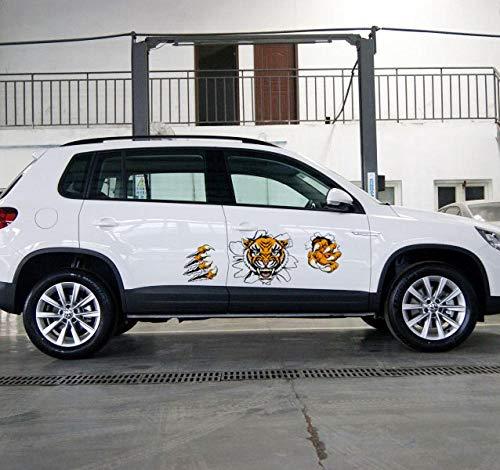 Hdggzkm rubberen stickers ter decoratie van het lichaam van de auto, grote mooie, reflecterende stickers voor de auto