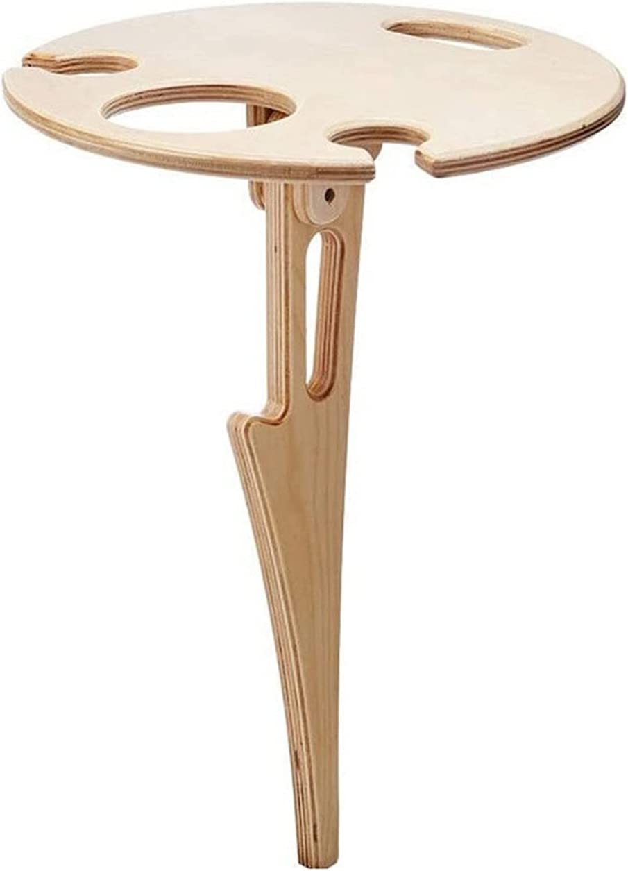 Ranking TOP15 yangmeng Outdoor Portable Wine Table Foldable with Round Desktop Translated