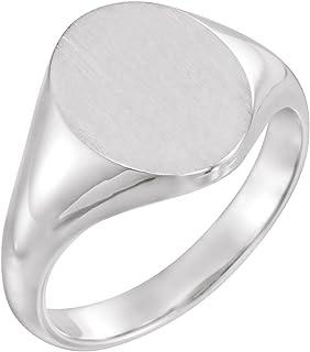 FB Jewels 925 الفضة الاسترليني 11x9.5 ملليمتر الرجال البيضاوي الدائري