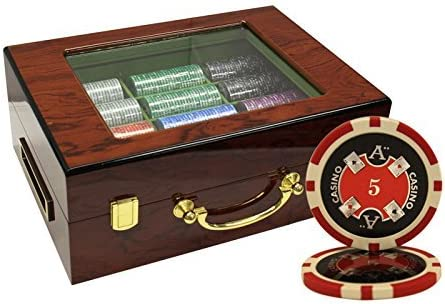 cheap MRC 500pcs Ace Free shipping on posting reviews Casino Laser Poker with Wood Customized Chips Set