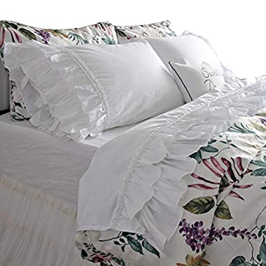 Queen's House Luxury Eyelet Lace Bed Sheet...