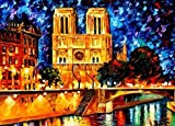 MENGBBMENGBB Resumen Pintura al leo digital Torres gemelas Pintura de Notre Dame por nmeros Decoraciones de interiores Juegos de arte y juguetes Pinturas sobre lienzo - Sin marco