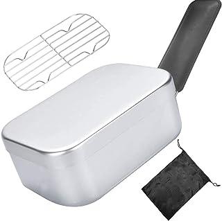 キャンプ用メスティン アルミ飯盒 ハンドルカバー付きハンゴウ クッカー バーべキュー アウトドア炊飯 調理器具 サバイバル メスキット 収納袋付き