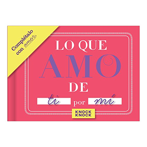 Knock Knock Lo Que Amo de ti Fill in the Love Book Fill-in-the-Blank Gift Journal (Spanish Version), 4.5 x 3.25-inches Photo #4