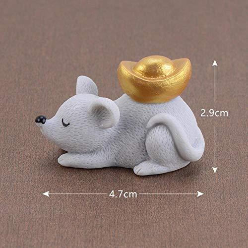 Gbcyp 1 stuks muisornament animatie muizen rijk klein beeld kunsthandwerk bureau dier schattige decoratie voor thuis