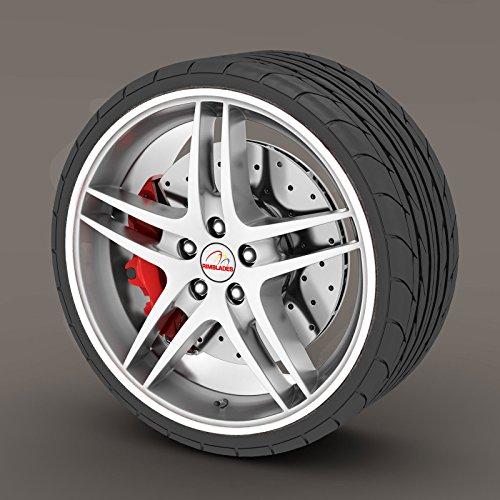 White Rimblades Alloy Wheel Edge Ring Rim Protectors Tyres Tire Guard Rubber Moulding
