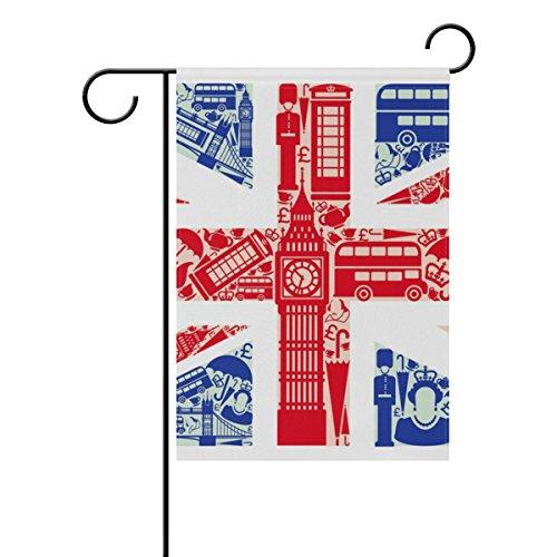 COOSUN Drapeau de l'Angleterre Polyester Drapeau Jardin dans le jardin libre drapeau Home Party Décor, double face, 12 x 18