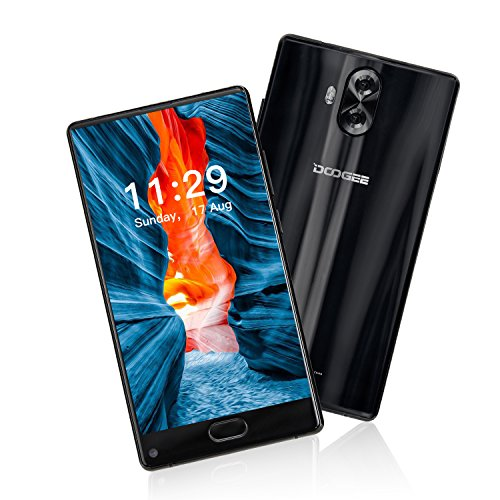 Doogee Mix Lite - 4G Smartphone Movil Libre ( Pantalla 5,2 pulgadas HD, Android 7.0, Quad Core 1,45 GHz, 3 cámaras: 13MP + 13MP traseras, 8MP delantera, 2GB RAM + 16GB ROM, Lector de huellas 0,1s, 3080mAh, Dual sim), Negro
