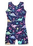Dinosaur leotard 4t 5t for girls gymnastics navy blue unitard dance apparel clothing