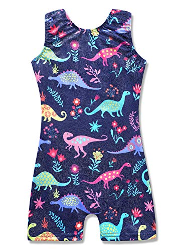 HOZIY 3t Leotard Gymnastics Leotards with Shorts Dinosaur 4t Dance Unitards Outfits Cute Adorable
