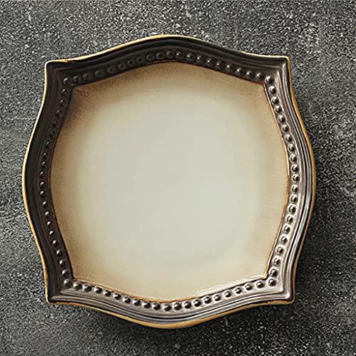 Aiglen Nordic Art Retro Keramik Geschirr Geprägte Western Steak Salatplatte Einfache Home Küche Hauptgerichte Dessert Sushi Plate Obst