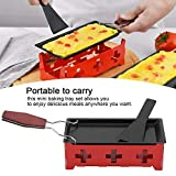 carbon steel solid raclette cheese melter, candlelight cheese melter pan, for kitchen for home