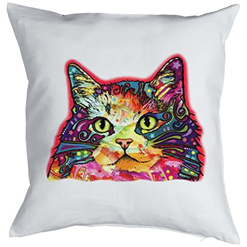Ragamuffin Cat Chats Gatti Gatos Coussin, Pop Art Style