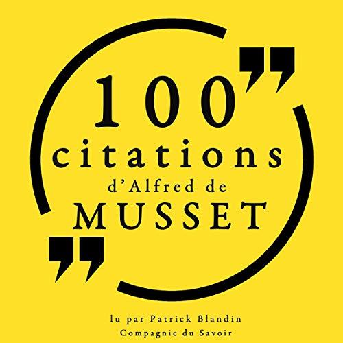 Couverture de 100 citations d'Alfred de Musset