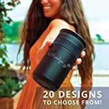 Personalized Insulated Stainless Steel Coffee Tumbler 12oz and 16oz with Ceramic Lid - Premium Quality Double Wall Vacuum Elemental Tumbler - BEST for Coffee Lover, Birthday Gift, Valentine Gift