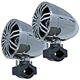 Seismic Audio - SA-JMS35C - Pair of Chrome 3.5 Inch Waterproof Speakers for Powersports, Watercrafts, ATV, Off Road Vehicles, Motorcycles, Golf Carts - Mounting Clamps Included
