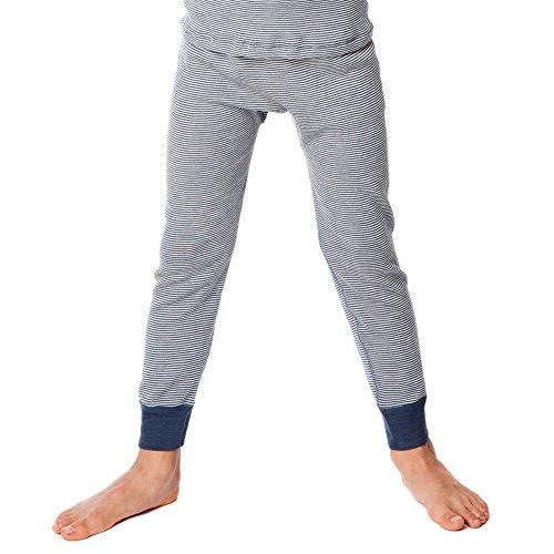 Living Crafts Kinder Lange Unterhose aus Bio-Wolle/Seide