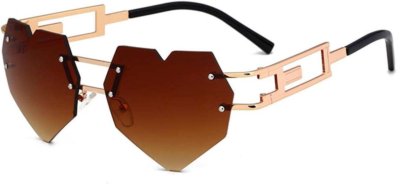 Marine Sunglasses Women's, Peach Heart Sunglasses, Metal Frame Ultra Light, Radiation Predection AntiFatigue Sturdy Wear Resistant