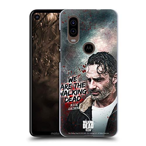 Head Case Designs Licenciado Oficialmente AMC The Walking Dead Cita Legado de Rick Grimes Carcasa rígida Compatible con Motorola P40