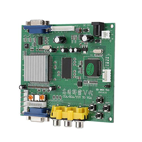 Arcade Game CGA EGA YUV to VGA HD Video Converter Board, 1 Channel Relay Module for Arcade Game Monitor to CRT LCD PDP Project Monitor