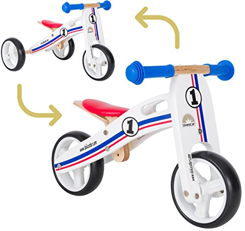 Bikestar - Bicicleta de Madera para niños a Partir de 18 Meses | 7 Pu