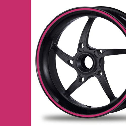 NEW! Felgenrandaufkleber Classic Style Auto Motorrad Felgenaufkleber (7mm, pink)
