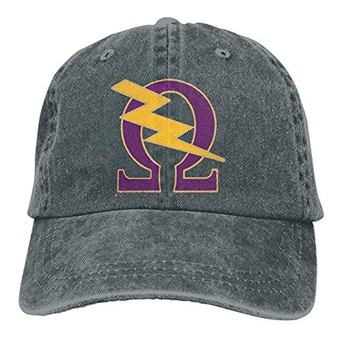 VJSDIUD Omega PSI Phi Baseball Caps Mens Womens Camping Adult Adjustable Cowboy Hat Casquette Black