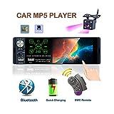 TOYOUSONIC Radio del Coche 1 DIN Reproductor MP5 Autoradio Bluetooth 4.1 Pulgadas Pantalla táctil con Cámara de Visión Trasera Soporte Control Remoto/Micrófono Externo/FM/Am/RDS