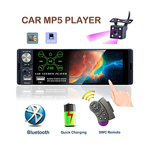 TOYOUSONIC Radio del Coche 1 DIN Reproductor MP5 Autoradio Bluetooth 4.1...
