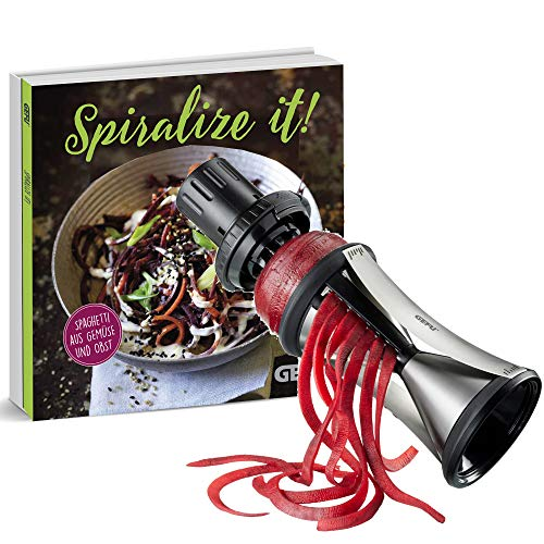 GEFU Spiralschneider SPIRELLI® XL + Kochbuch Spirelli XL Gefu Gemüseschneider Julienne-Endlosstreifen