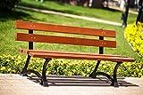 Banco Urbano de Hierro Fundido,Color: Caoba para jardín, para Calle, Durable y Certificado
