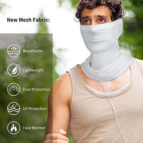 Oscenny MultifunctionalHeadwearMesh Fabric for Easily BreathableUVDust ProtectionSnoods for Men ForAllYearRound