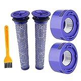 Kit de prefiltro y postfiltro para aspiradora Dyson V7 V8, 4 piezas