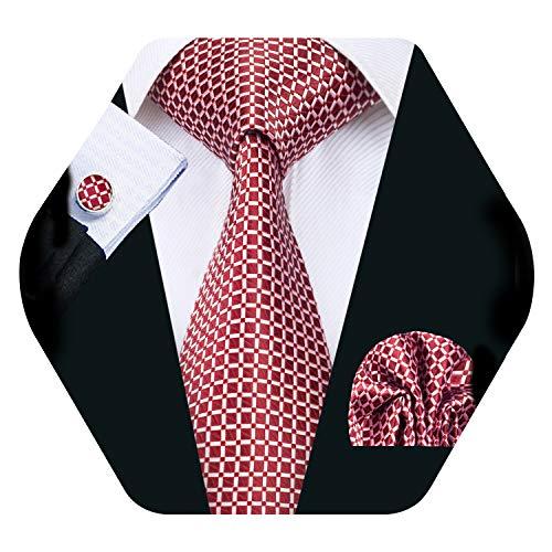 blau Einheitsgr/ö/ße Wang Barry Krawatten-Set mit Einstecktuch und Manschettenkn/öpfen Gr