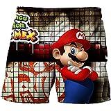 LIANGJI Shorts de Playa Mario Pantalones Cortos de Verano Pantalones Cortos de Super Mario-Luigi Juegos de Dibujos Animados Ropa para niños Pantalones para niños Camisetas para niños Ropa para bebés