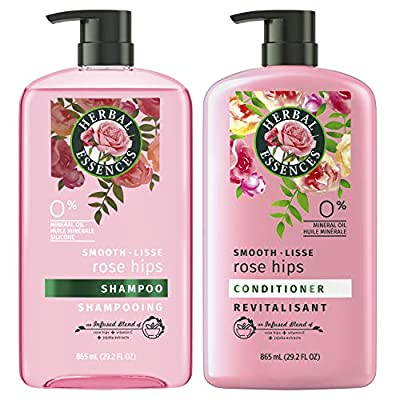 Herbal Essences Shampoo and Conditioner, Vitamin E, Rose Hips and Jojoba Extract, Smooth Collection, Bundle by AmazonUs/PRFZ7