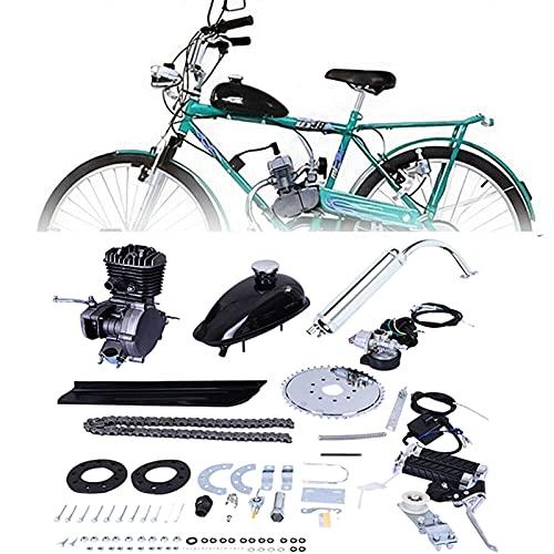 3HP Single Cylinder Motor Engine for Modified Bicycle, 80 cc 2 Stroke Gas Petrol Motorized Bike Bicycle Engine Motor Kit, DIY Petrol Gas Engine Bicycle Motor Kit Set for Modified 24' 26' 28' Bikes