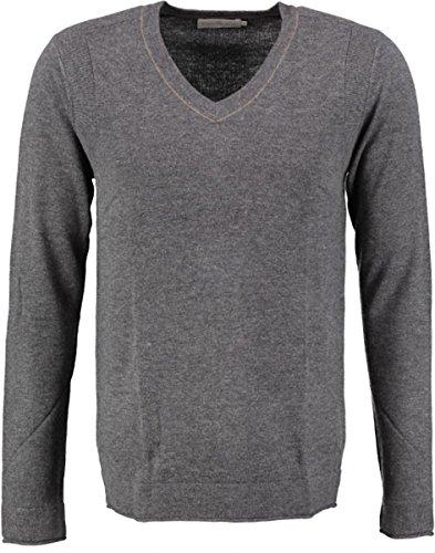 Calvin Klein Caleb 1 Vn Sweater L/S suéter, (Dark Grey Heather 20), S/46 para Hombre
