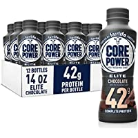 12-Pack Core Power Elite High Protein Shakes in 14 fl oz Bottles (Chocolate)