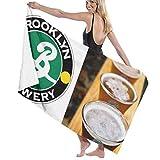 65469longshuo Brooklyn Brewery Bath Towels Luxury Microfiber Beach Towel Quick-Drying Pool Towel Blanket Toalla