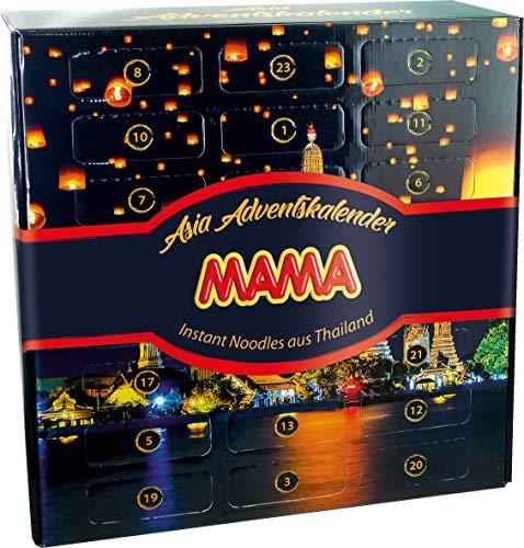 MAMA Adventskalender mit Instant Nudeln aus Thailand (Weihnachtskalender mit festlichem Motiv, lecker und dekorativ, Ideal zum Verschenken) 1 x 1295g