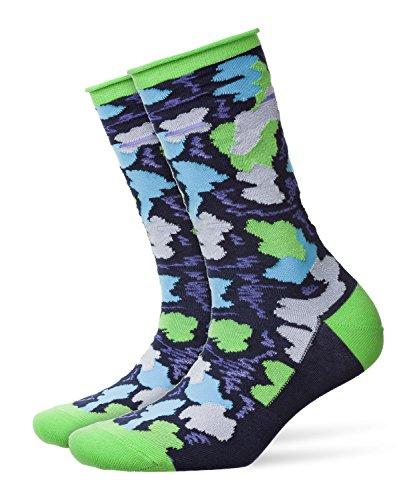BURLINGTON Damen Socken Painted Camouflage, Baumwollmischung, 1 Paar, Blau (Marine 6120), Größe: 36-41