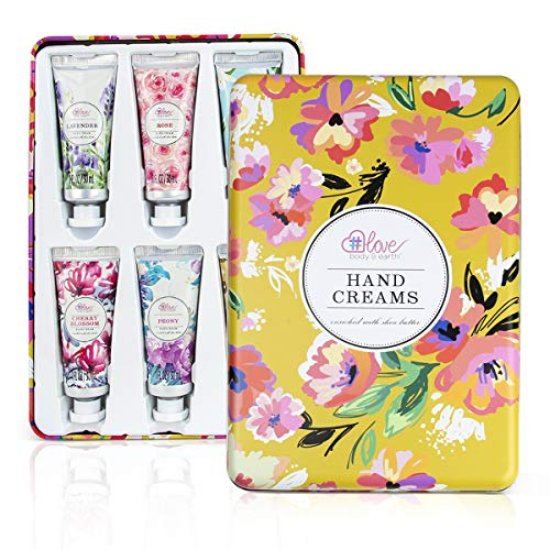 Hand Lotion Set - Pack of 6 Hand Cream Enriched with Shea Butter and Glycerin to Nourish and Deeply moisturize Rough Hands, 6 x 1.0 oz/30ml Travel Size Hand Lotion, Best Women Gifts