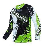 Hotlion Camiseta de motocross para hombre de manga larga para ciclismo