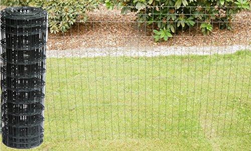Schweißgitterzaun als Gartenzaun Wildzaun Gitterzaun in grau anthrazit 1,0 m - 1,5 m hoch metall eisen Zaungitter Zaundraht Gitterdraht Drahtgitter Maschenzaun (1,5 m hoch 25 m lang)