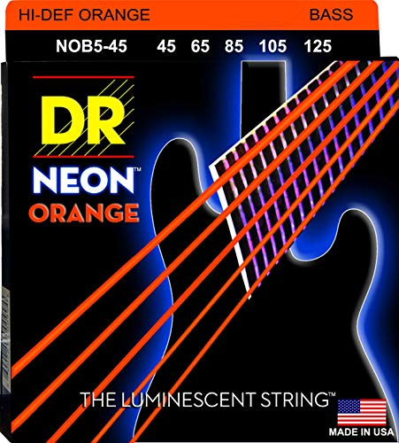 Dr Strings NOB5–45 nickel COATED BASS GITARRE SAITEN, mittel