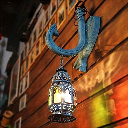 -Bohemian glazen wandlamp Turkije creatieve retro Lantern Bar Cafe Mediterranean wandlamp