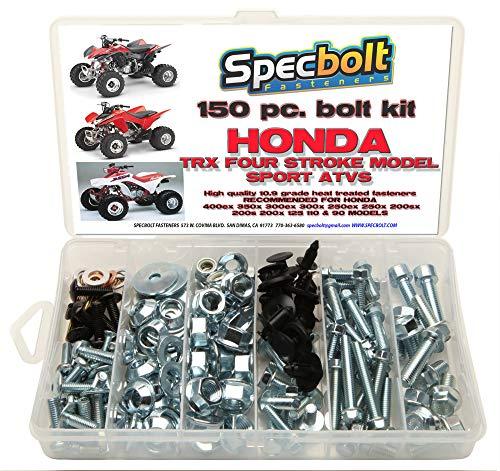 150pc Specbolt Honda 400EX & 250EX Bolt Kit for Maintenance OEM Spec Fasteners Quad TRX400EX TRX250X aslo Great for ATC & TRX 350x 300ex 300x 250ex 250x 200sx 200s 200x 125cc 110cc & TRX90 Models